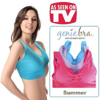 As Seen On TV ~ Genie Bra Summer Colour (3pcs)