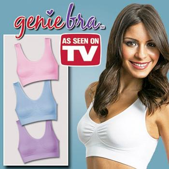 As Seen On TV ~ Genie Bra Pastel Colour (3pcs)
