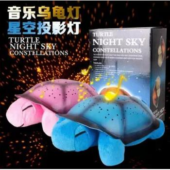 Turtle Light Night Sky With Music