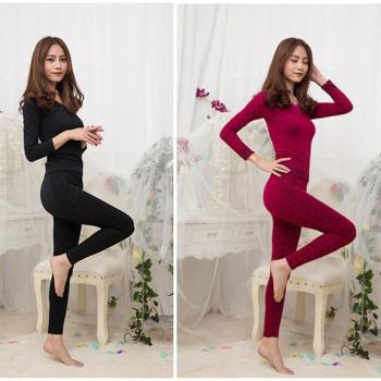 Long Sleeves + Pants Slim Bodysuit Pyjamas ◆Flower◆