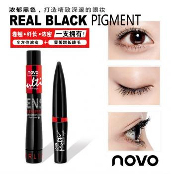 NOVO 2IN1 Waterproof Mascara+Silk Fiber 5118