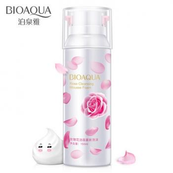 BIOAQUA Rose Cleansing Mousse Foam