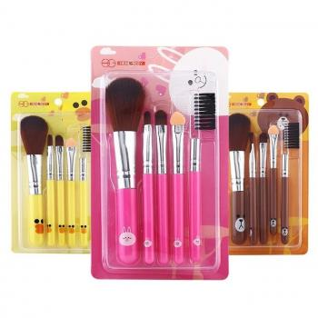 Cartoon 5 IN 1 MakeUp Brush Set