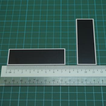 Nametag Plate 75mm x 25mm (100pcs)