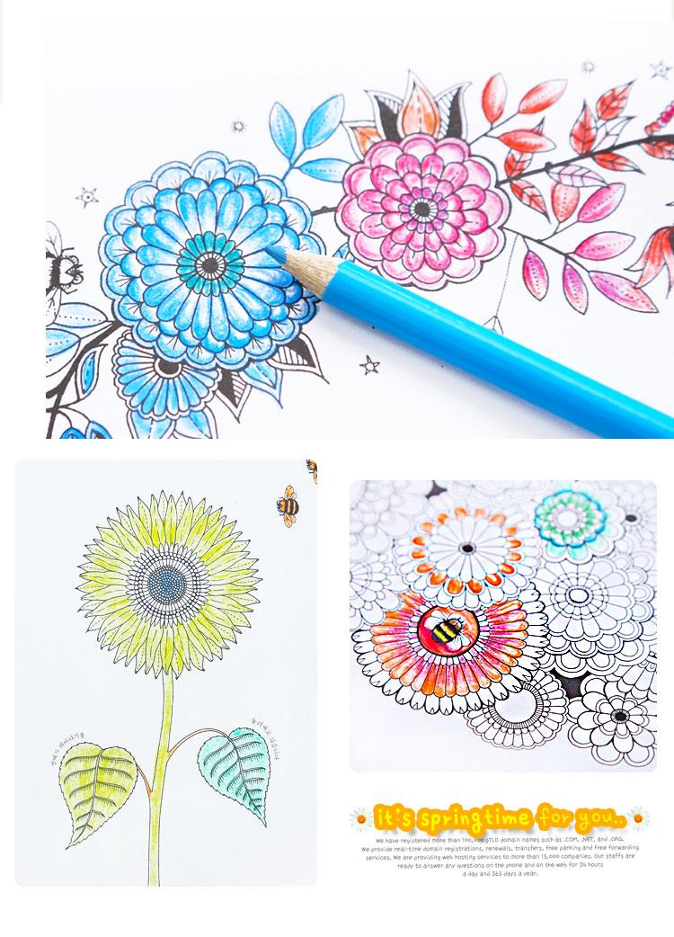 Colouring Lelong Book Secret Garden Color Relaxing AM 819 7 21